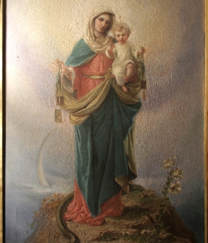 The painting before conservation and restoration